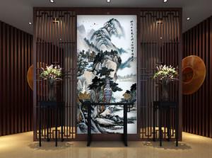 别墅中式风格精致室内进门玄关装修效果图大全