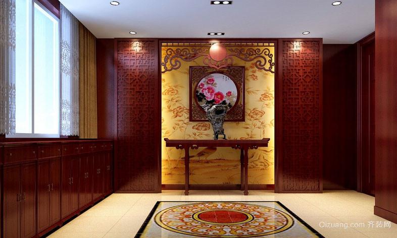 别墅型中式风格充满中国特色室内门厅玄关装修效果图