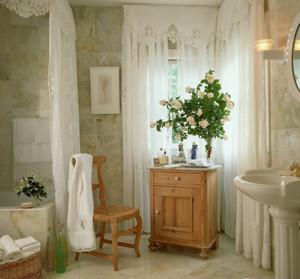 清新大户型田园风格浴室卫生间装修效果图实例