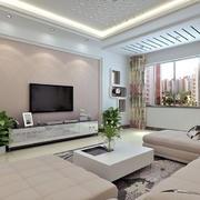 暖色电视背景墙装修效果图