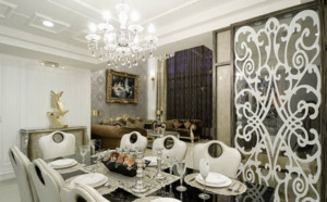 时尚法式巴洛克风格别墅餐厅装修效果图