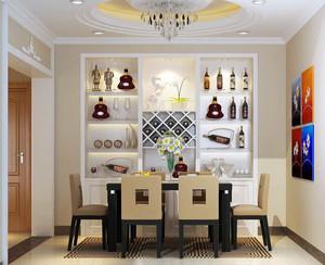 2016别墅欧式餐厅背景墙设计装修效果图欣赏