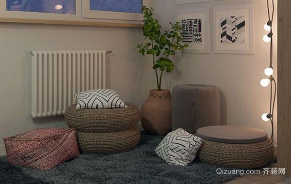 北欧风格自然简约温馨50平米公寓装修效果图
