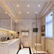 现代欧式风格别墅型简约室内卫生间隔断装修效果图