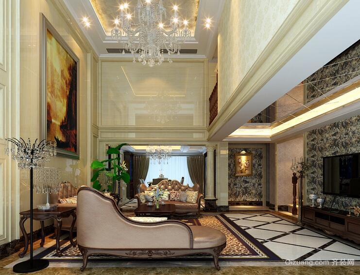 2016别墅型欧式风格客厅装修效果图欣赏