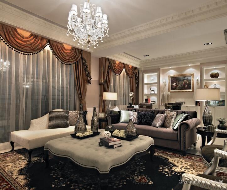 2016欧式小户型客厅室内设计装修效果图欣赏