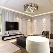 别墅现代简约风格客厅设计装修效果图欣赏