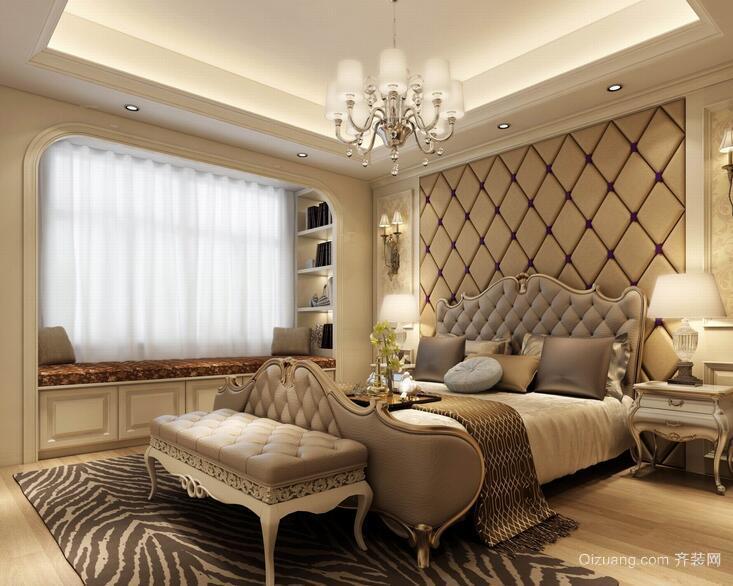 现代欧式大户型卧室设计室内装修效果图