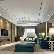 大户型客厅整体上设计效果图