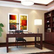 中式风格书房效果图