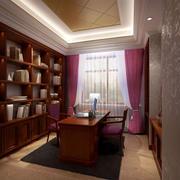 精致中式书房书架设计