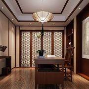 中式书房整体装修效果图