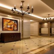 欧式风格精美门厅吊灯设计