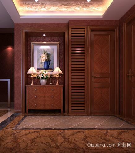 古典欧式风格精致典雅进门玄关装修效果图