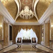 欧式高贵典雅门厅效果图