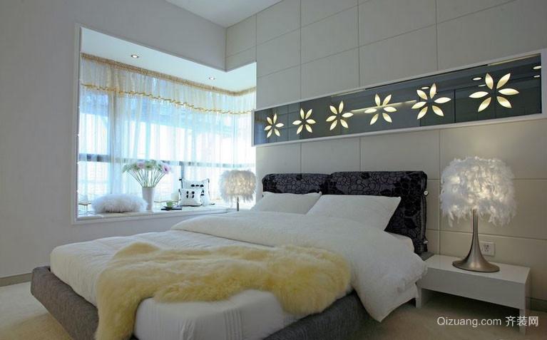 大户型现代简约风格时尚创意卧室飘窗装修效果图