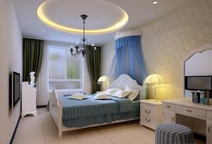 2016年地中海风格自然舒适大户型室内卧室装修效果图