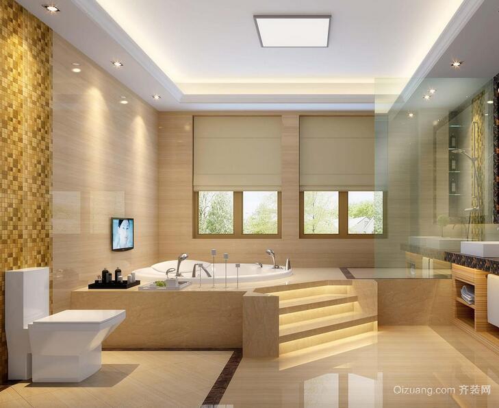精致欧式别墅卫生间装修效果图欣赏