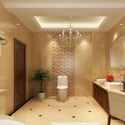 2016别墅型欧式卫生间室内设计装修效果图欣赏