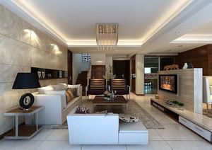复式楼现代简约风格时尚客厅装修效果图
