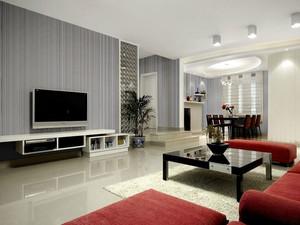 后现代风格简约时尚室内客厅电视背景墙装修效果图