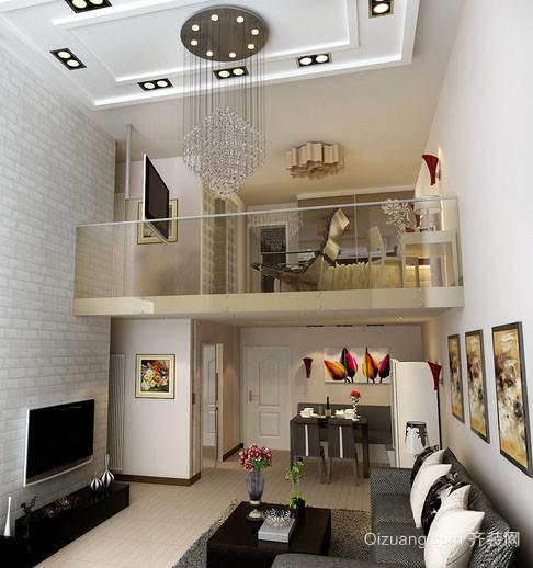 复式小楼现代简约风格室内客厅整体设计装修效果图