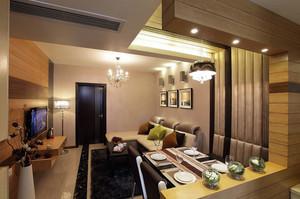 80平米简约风格舒适室内客厅餐厅装修效果图