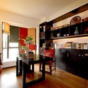 新中式风格精致大户型室内书房装修效果图
