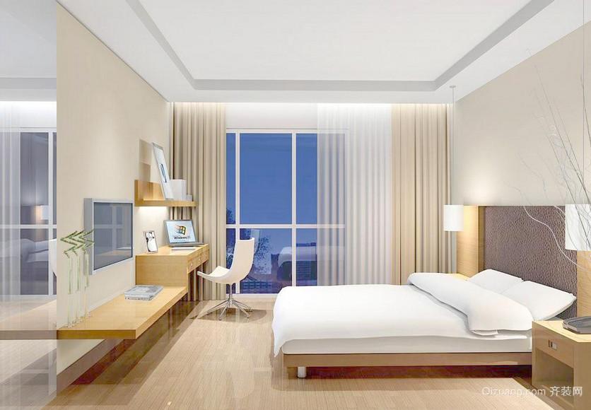 清新简约120平米三居室卧室装修效果图