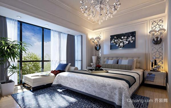 现代时尚120平米欧式卧室装修效果图赏析