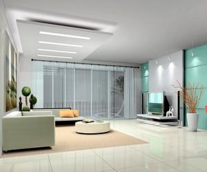 2016别墅型欧式客厅吊顶设计装修效果图欣赏