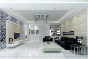 120平米现代简约风格时尚室内客厅装修效果图赏析