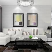 简约风格客厅照片墙装修