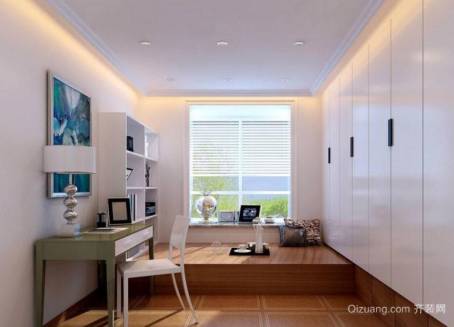 8平米都市简约风格时尚创意书房榻榻米装修效果图