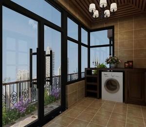 别墅型现代阳台吊顶设计装修效果图欣赏