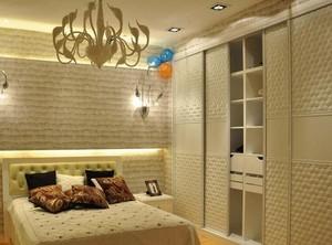 2016别墅型欧式卧室衣柜设计装修效果图欣赏