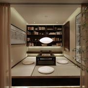 中式书房榻榻米效果图