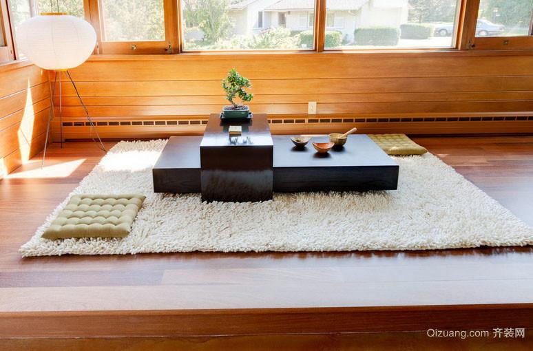 日式风格80平米精致优雅室内榻榻米装修效果图