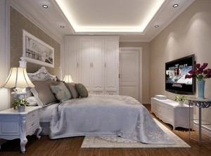 欧式现代小户型卧室吊顶装修效果图实例