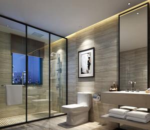 100平米三居室简约风格室内大卫生间装修效果图