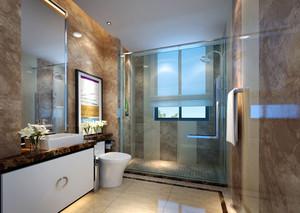 120平米简约风格精致室内卫生间墙砖装修效果图