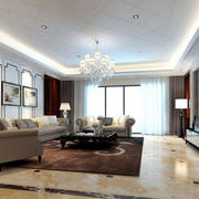 简约客厅整体设计效果图