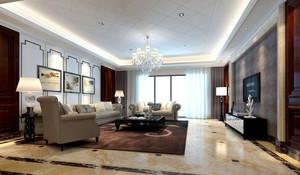 简约风格90平米三居室客厅样板间设计装修效果图大全