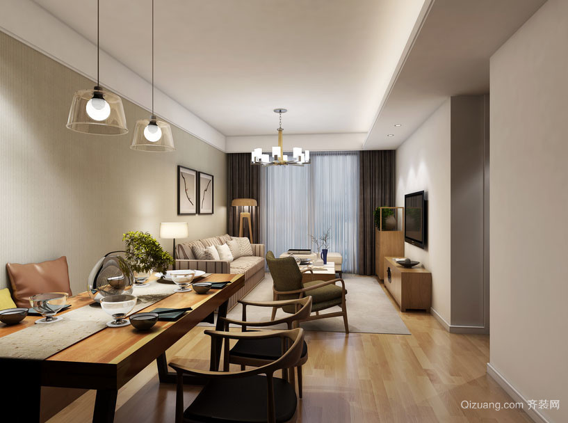 80平米现代loft简约时尚创意餐厅装修效果图鉴赏