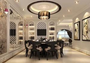 2016别墅型欧式餐厅吊顶装修效果图欣赏