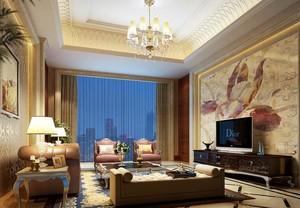 大户型欧式客厅吊顶设计装修效果图实例