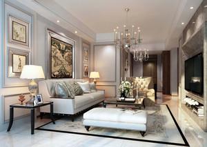 140平米大户型简欧风格简约室内客厅装修效果图