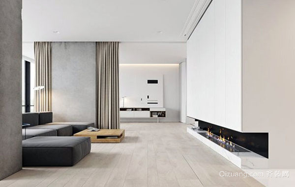 100平米极简主义风格简约室内公寓装修效果图赏析