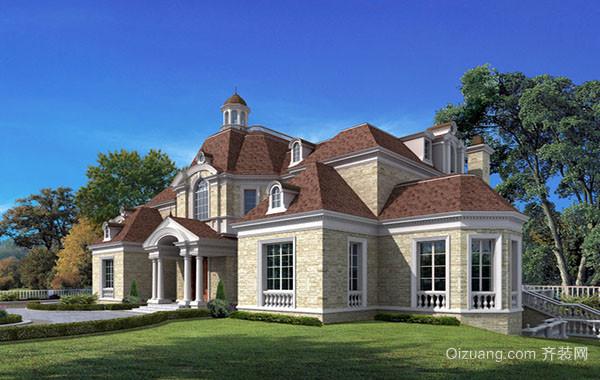 欧式风格200平米自建别墅装修效果图赏析