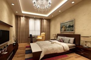 大户型现代简约风格温馨舒适主卧室装修效果图